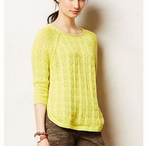 Sparrow Collected Yellow Round Hem Knit Sweater